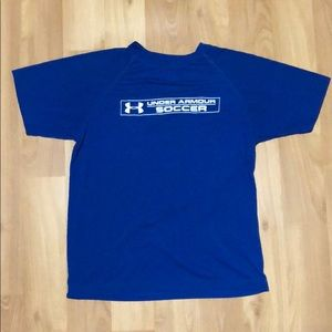BOYS LARGE UNDER ARMOUR SOCCER SHIRT